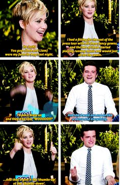 Jennifer Lawrence and Josh Hutcherson (+ Liam Hermsworth)