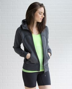 Whether we're heading out to the studio or snuggling in from the cold, our fleecy Scuba™ Hoodie is our go-to layer.  A longer length gives us a little extra coverage and ribbed panels in the sides give us plenty of room for high fives, bear hugs and cuddle puddles on the couch.