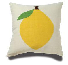 lemon pillow - Jonathan Adler Lemon Pillow in Wool Fruit Pillows Jonathan Adler, Lemon Yellow, Lemon Lime, Kids Prints, For Love And Lemons, Mellow Yellow, Kid Spaces, Baby Decor, Kids Furniture