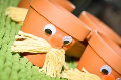 Lorax flowerpots for a truffula tree planting station
