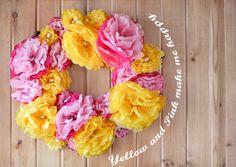 MaryJanes and Galoshes: Tissue Flower Wreath Tutorial