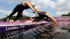 Women's Marathon Swimming at Hyde Park - American Haley Anderson takes Silver! Go TEAM USA!