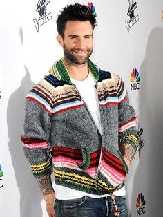 Star Tracks: Tuesday, December 9, 2014 | CASUAL MONDAY | Also on The Voice red carpet, fellow judge Adam Levine, who stays bundled up in his wooly sweater.