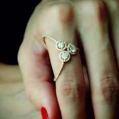 """""""Einstein Plus"""" 18K Rose Gold Diamond Ring - Plukka - Shop Fine Jewelry Online"""
