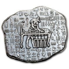 Obverse: Depicts the half man/half jackal Egyptian god Anubis that performs various roles in the afterlife. Each bar displays the weight and purity. Reverse: Depicts the half man/half jackal Egyptian god Anubis performing one of his duties. Gold And Silver Coins, Silver Bars, Silver Investing, Bar Displays, Gold Tips, Silver Bullion, Anubis, 1 Oz, Precious Metals
