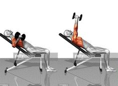 Dumbell fly incline