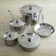 If I was a millionaire - This is the version of the 10-piece cooking set I would be buying instead... (Williams Sonoma)