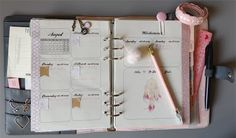 Filofaxing Kikki K Dekoration KW 32 - vintage rose Traumfänger glitter rosa Crown Page Flags Plüsch | the blossom's place