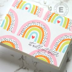 Rainbow Palette, Rainbow Card, Image Stamp, Guest Gifts, Better Day, Creative Cards, Clear Stamps, Blog, Card Making