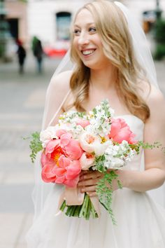 #peony, #bouquet  Photography: Divine Light Photography - dlweddings.com  Read More: http://stylemepretty.com/2013/09/06/new-york-city-wedding-from-divine-light-photography/