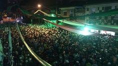Rojões, jogo no celular e festa: o título do Palmeiras na Rua Palestra Italia