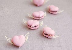 Heart shaped macaroons