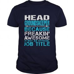 HEAD-GROUNDSKEEPER - #white tee #cropped sweatshirt. MORE ITEMS => https://www.sunfrog.com/LifeStyle/HEAD-GROUNDSKEEPER-Navy-Blue-Guys.html?68278