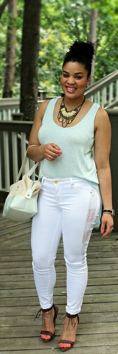 White Jeans - The Fashionista Next Door
