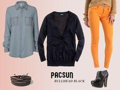 Fall Feminine Flair Lookbook Page, rendered after concept art. #pacsun #bullheadblack