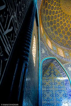 Lutfollah Mosque is one of the architectural masterpieces of Safavid Iranian architecture, standing on the eastern side of Naghsh-i Jahan Square in Isfahan, Iran. It was built by chief architect, Shaykh Bahai during the reign of Shah Abbas I of the Safavid Dynasty.