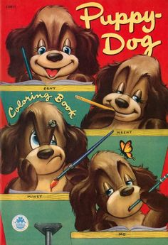 Puppy Dog Coloring Book 1952