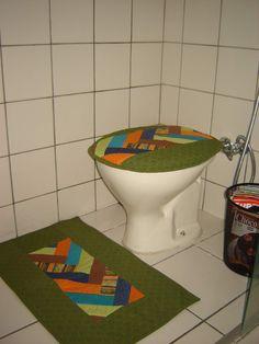 PATCHWORK ... jogo de banheiro!