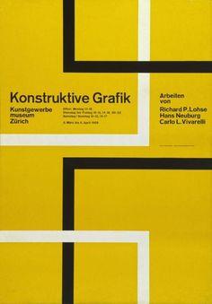 Konstruktive Grafik, Kunstgewerbemuseum Zürich, 1958