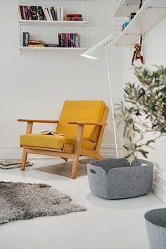 Skandinavisch Wohnen gelb Sessel