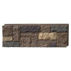 NextStone Castle Rock ft Tuscan Brown Faux Stone Veneer at Lowe's. Developed in the NextStone holds a US design patent and has a unique manufacturing process giving the products the most authentic faux stone siding Stone Siding Panels, Stone Veneer Siding, Faux Stone Veneer, Faux Stone Siding, Stone Veneer Panels, Faux Stone Panels, Faux Rock Panels, Rock Siding, Decorative Wall Panels