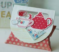 Tea For Two Revisited - Tea Set Pillow Box by Betsy Veldman for Papertrey Ink (April 2013)
