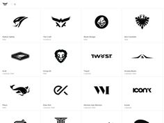 Dribbble - New minimal b/w Logo Design Portfolio by Gert van Duinen