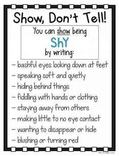 My students have such a hard time with adding description to their writing. These Show Creative Writing Tips, Book Writing Tips, Narrative Writing, Writing Words, Writing Lessons, Writing Workshop, Writing Resources, Teaching Writing, Writing Activities