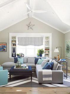 Awesome coastal california living room.