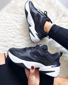 Nike Air Tekno nike Retro black and white men women running shoes 17097508495 Black Shoes Sneakers, Nike Shoes, Sneakers Nike, Nike Winter Shoes, Nike Trainers, Platform Tennis Shoes, Nike Retro, Tennis Shoes Outfit, Adidas