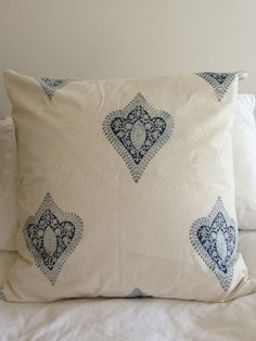 Les Indiennes Indigo Pillow Sham by CLOTILDEmanuellment on Etsy