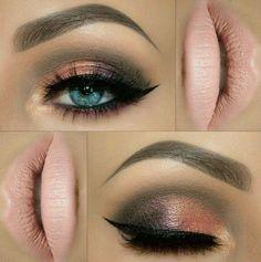 Beautiful Eye Makeup & Matte Pastel Pink Lipstick