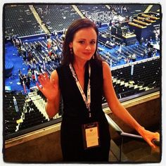 Alexis Bledel was on the scene at the DNC.