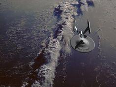 USS Enterprise B and dry dock studio models for Star Trek: Generations Star Trek Vi, New Star Trek, Star Wars, Star Trek Ships, Uss Enterprise Ncc 1701, Star Trek Enterprise, Akira, Starfleet Ships, Star Trek Starships