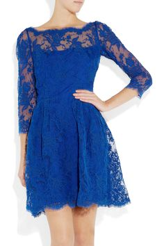 blue lace dress by issa.