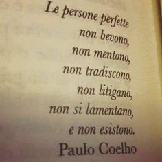 """« Perfect people don't drink, don't lie, don't cheat, don't fight, don't bother and don't exist"""" Italian Phrases, Italian Quotes, Best Quotes, Love Quotes, Inspirational Quotes, Something To Remember, Some Words, Words Quotes, Decir No"""