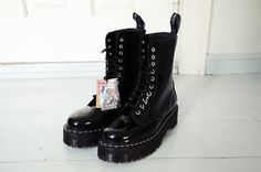 Rare Aggy Deyn 1490 Dr. Martens boots! UK 5 US 7. These patent lamper black boots are even harder to find than the red ones. They are in near mint condition, never used. Includes original box. I'm helping my girlfriend sell these.