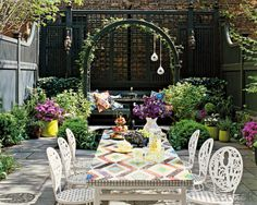 Fun outdoor seating and structure