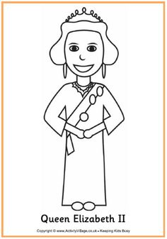 Queen Elizabeth II colouring page                                                                                                                                                     More