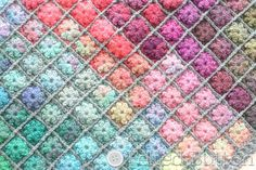 Crochet Pattern Painted Pixels Baby Blanket Afghan