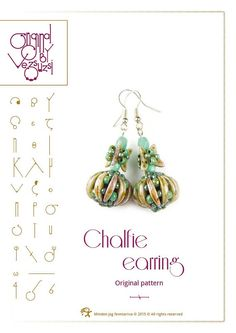 *P Beading tutorial Chalfie earring with crescent by beadsbyvezsuzsi