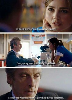 The thing is, Clara knows it happened. She remembers it. She listens to him, already knowing what happens. Knowing that the Doctor doesn't know who she is. And at the end, she thinks he'll finally remember her. But he doesn't.