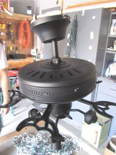 Before and after - how to paint a ceiling fan - 13