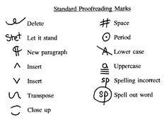 Printables Proofreading Marks Worksheet advanced proofreading marks school stuff pinterest bookmarks