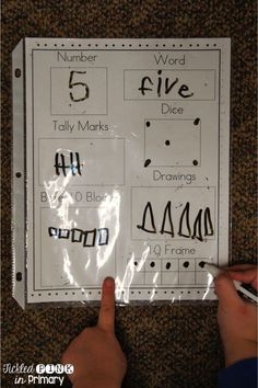 Simple worksheets to help students learn number sense