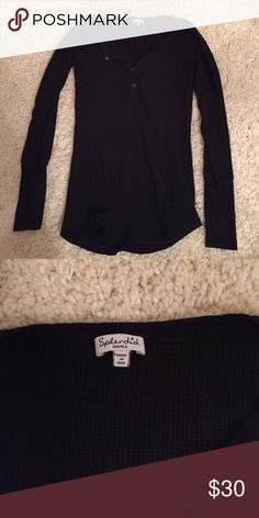 SPLENDID HENLEY THERMAL Small great condition Tops Tees - Long Sleeve