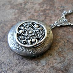Victorian Celtic Love Locket Exclusively by Enchanted Lockets. $25.00, via Etsy.