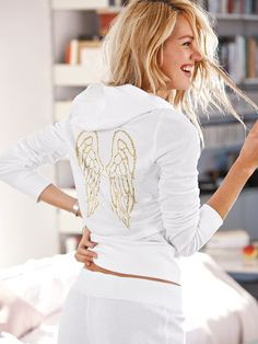 The Fleece Hoodie - Supermodel Essentials - Victoria's Secret WHITE