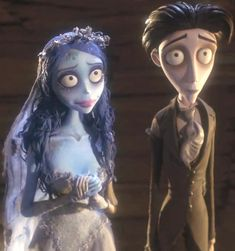 "Emily is the titular ""corpse bride"" from the film Corpse Bride. She was Victor Van Dort's accidental wife by brief time, also she really loved him. Estilo Tim Burton, Tim Burton Art, Tim Burton Style, Victor Corpse Bride, Tim Burton Corpse Bride, Corpse Bride Movie, Tim Burton Characters, Cute Characters, Disney Characters"