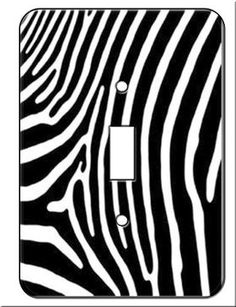 Zebra Switch Plate Covers (Single Toggle) Wall Switchplate  metal light switchplate cover *includes screws for installation *Great for Zebra Jungle Room Decor *measures 3.5 x 5 inches  Features : metal light switchplate cover *includes screws for installation *Great for Zebra Jungle Room Decor *measures 3.5 x 5 inches  Size : Single Toggle